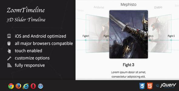 ZoomTimeline AddOn - 3D Slider Timeline - CodeCanyon Item for Sale