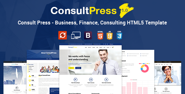 Consult Press – Business, Finance HTML5 Template