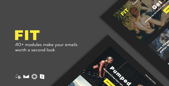 FIT - Responsive Email + StampReady Builder - Email Templates Marketing