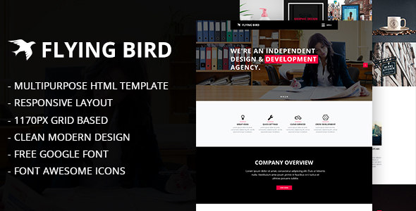Flying Bird Multipurpose HTML Template