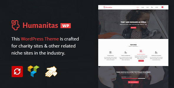 Humanitas WordPress Charity Donation Theme - Charity Nonprofit