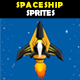 Spaceship 1 Sprites - GraphicRiver Item for Sale
