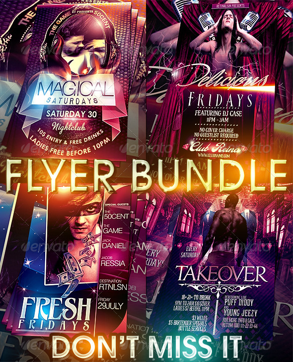 Magical Flyer Bundle - Clubs & Parties Events