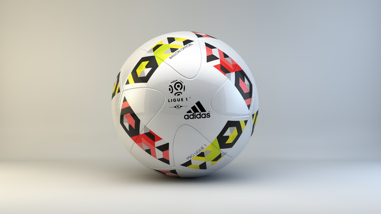 Adidas France Ligue 1 2016 2017 Official Match Ball By Rahmanjin 3docean