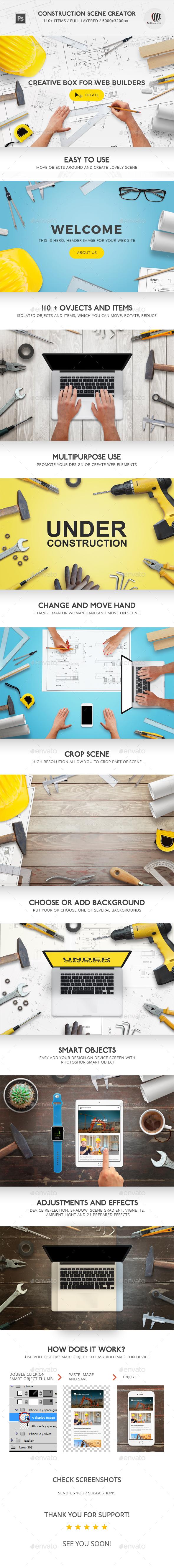 Construction Scene Creator - Hero Images Graphics