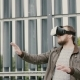 Bearded Attractive Man Uses Virtual Reality Glasses In The Urban Space.  - VideoHive Item for Sale