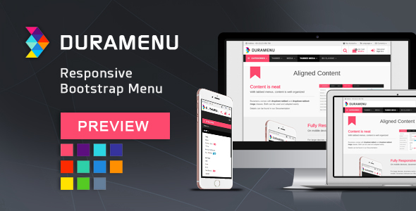 Duramenu | Responsive Bootstrap Menu - CodeCanyon Item for Sale