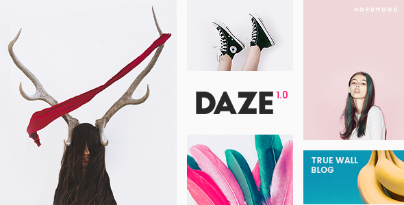 DAZE – A True Wall-Style Masonry Blog WordPress Theme