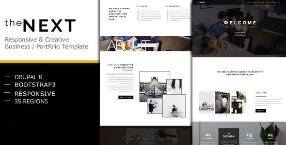 theNEXT - Creative Business Drupal 8 Theme - Creative Drupal