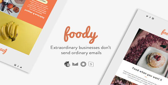 Foody - Responsive Email + StampReady Builder - Email Templates Marketing
