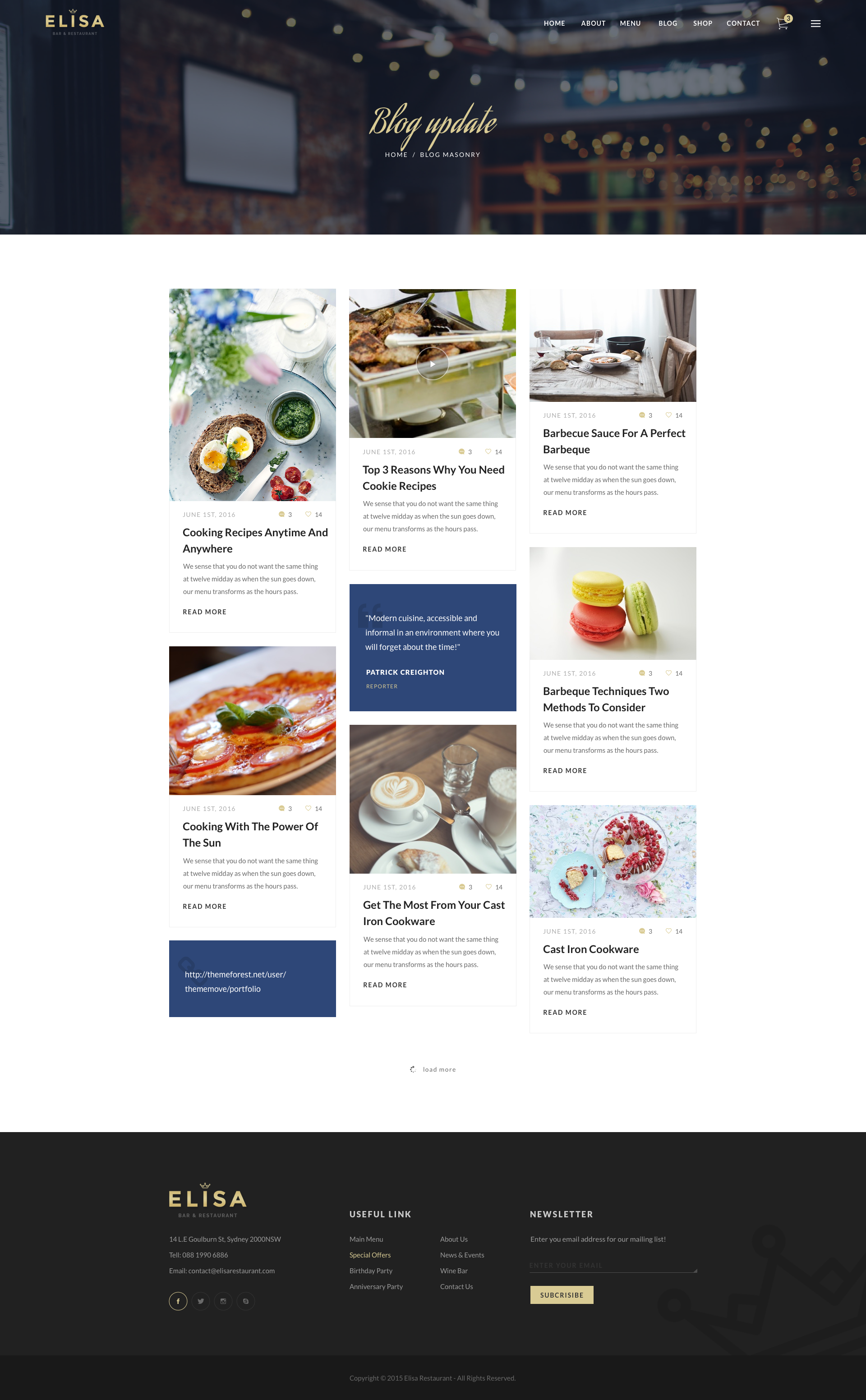 Elisa - Restaurant, Winery & Cafe Sketch Template by ThemeSun ...
