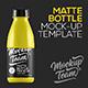 Matte Bottle Mock-up Template - GraphicRiver Item for Sale
