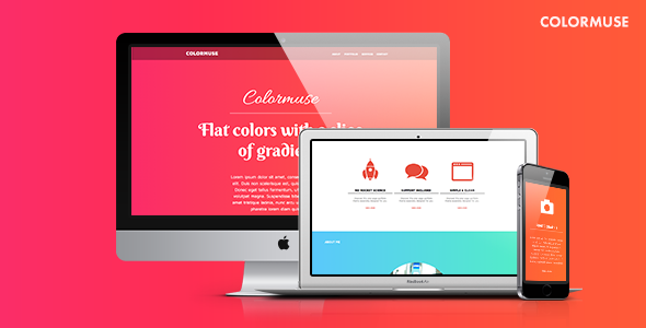 Colorful Muse Template for Portfolios & Creatives: Colormuse
