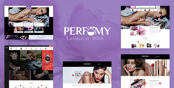 Perfomy -  Perfume / Jewelry / Accessories PSD Template - Retail PSD Templates