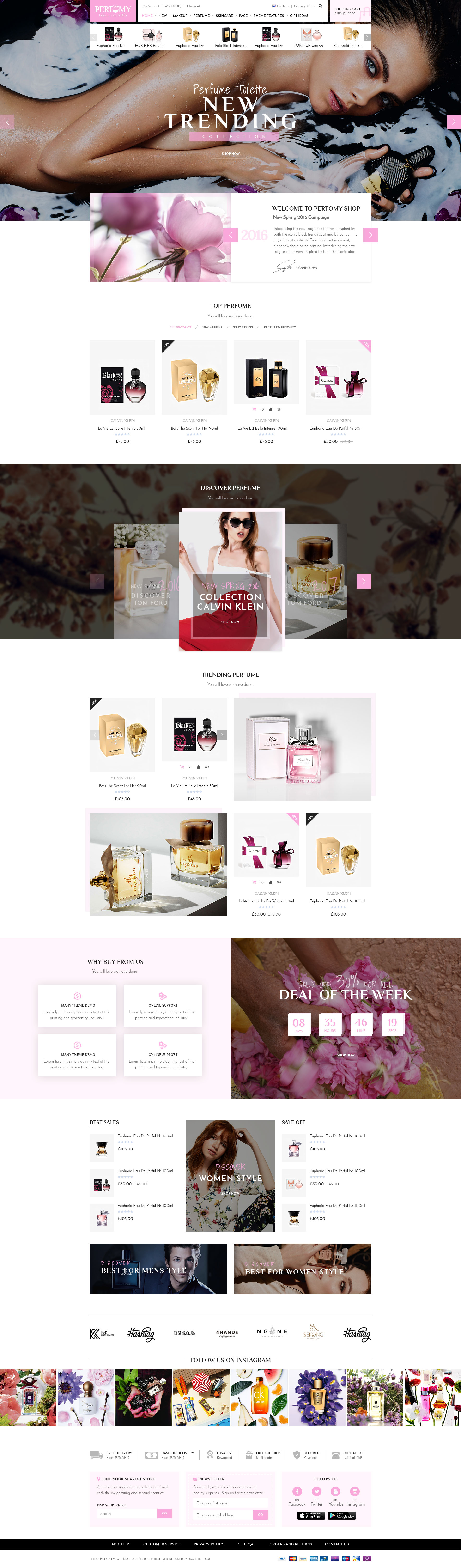 Perfomy Perfume Jewelry Accessories Psd Template By