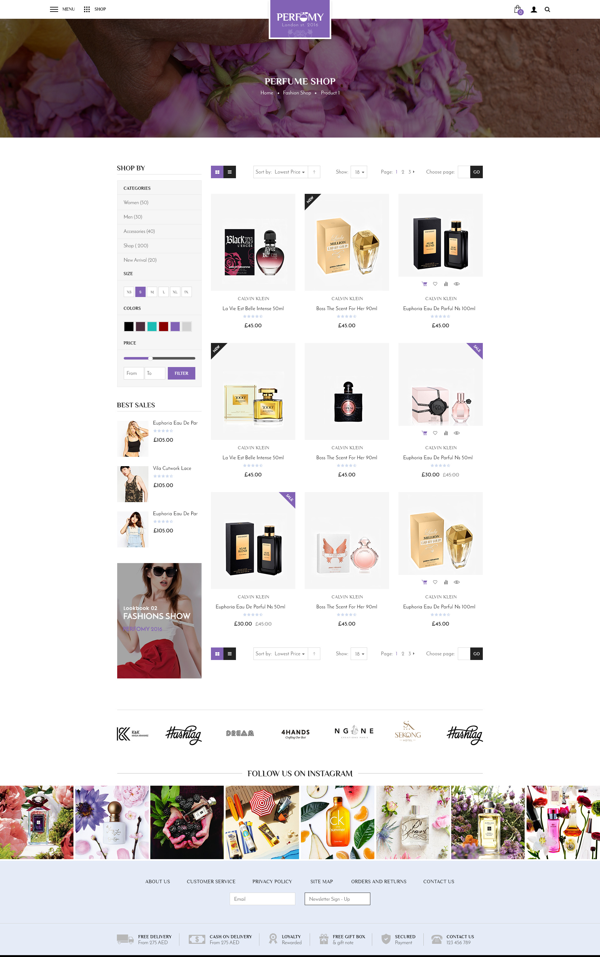 Perfomy Perfume Jewelry Accessories Psd Template