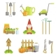 Garden Related Objects Set - GraphicRiver Item for Sale