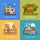 Bungalow, Cottage, Trailer and House Set - GraphicRiver Item for Sale