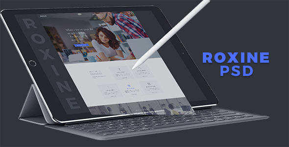 Multi Purpose Creative Agency Portfolio PSD Template - Roxine - Creative PSD Templates