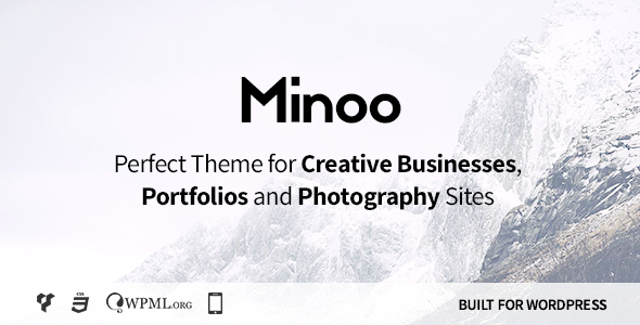 Minoo – WordPress Theme for Creative Businesses, Portfolio and Photographers