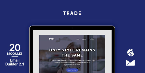 Trade Email Template + Online Emailbuilder 2.1 - Newsletters Email Templates