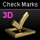 3D Check Marks - GraphicRiver Item for Sale