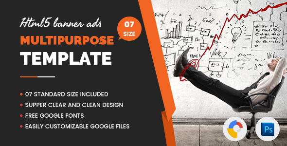 Multi Purpose Banners HTML5 D4 - Google Web Designer - CodeCanyon Item for Sale