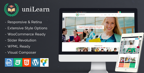 UniLearn – Education and Courses WordPress Theme