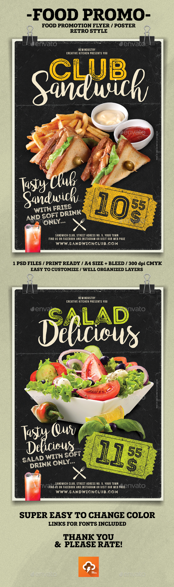 Food Promotion Flyer Poster