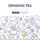 Drinking Tea Doodle Concept - GraphicRiver Item for Sale