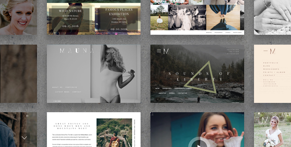 Mauna – full screen portfolio & agency theme