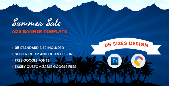 Summer Sales Banners Html5 - Google Web Designer - CodeCanyon Item for Sale