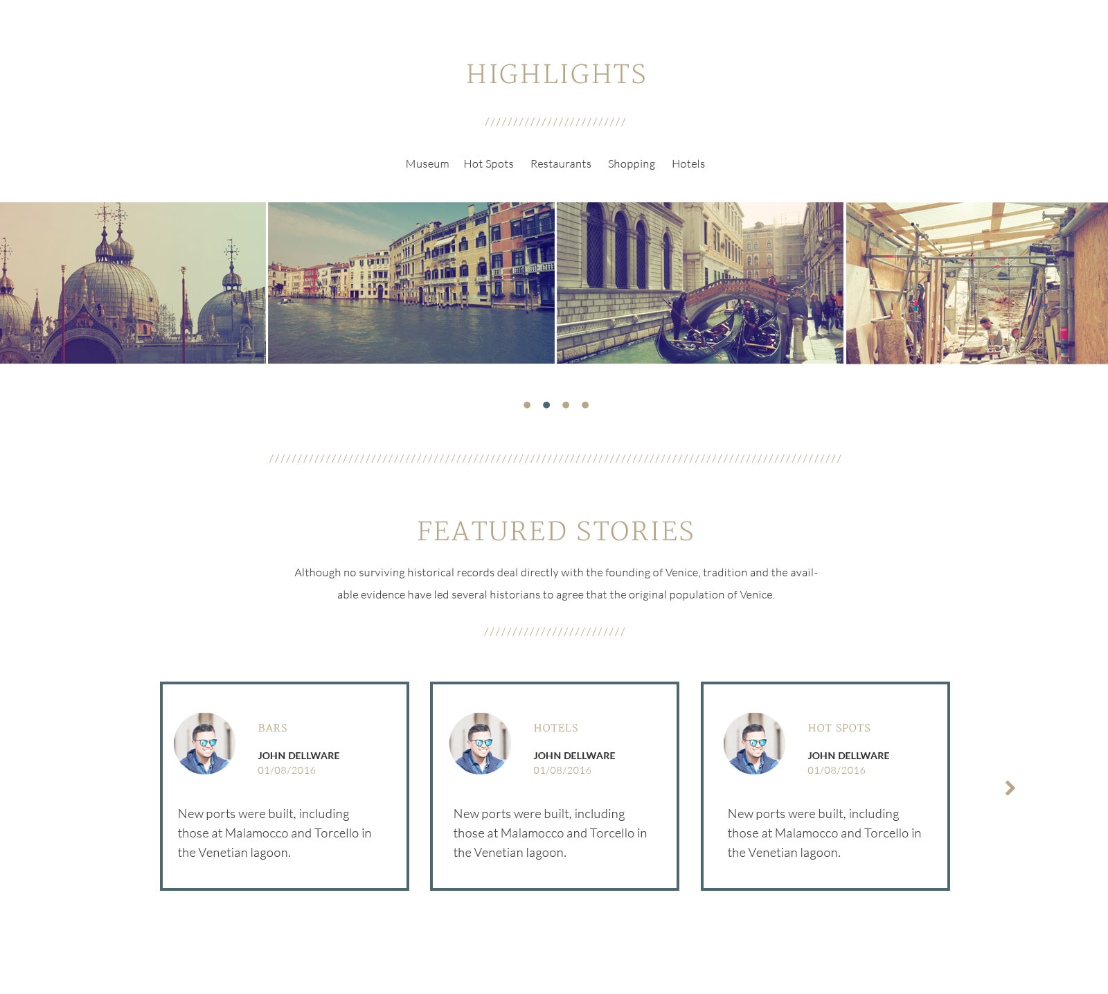 Venedic tour guide psd template by themfy themeforest venedic psd template 04g pronofoot35fo Image collections