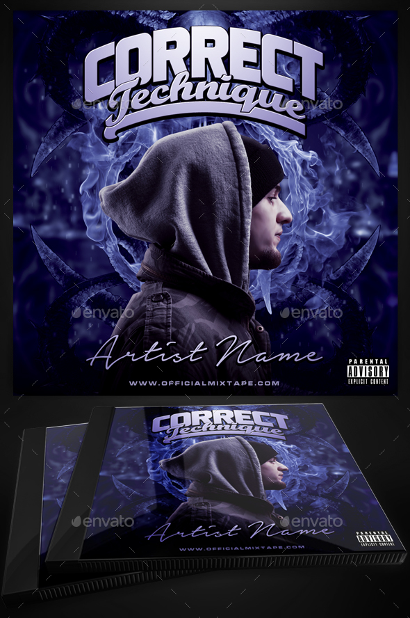 Correct technique mixtape cover template for photoshop by for Free mixtape covers templates