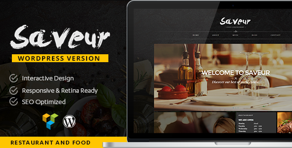 Saveur – Food & Restaurant WordPress