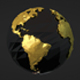 Low Poly Earth - Gold And Silver Versions - VideoHive Item for Sale