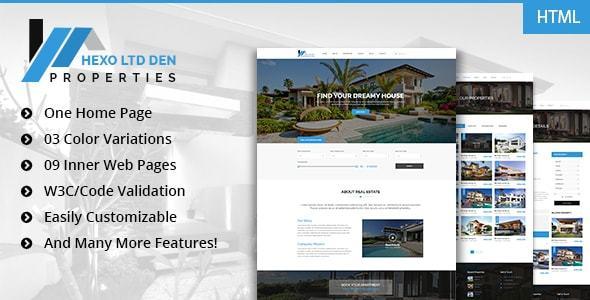 Hexo – Premium RealEstate HTML Template
