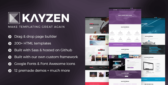 Kayzen – Multipurpose HTML5 Template