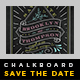 Elegant Chalkboard Save The Date Postcard | Volume 6 - GraphicRiver Item for Sale