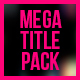 Mega Titles 4K Project - VideoHive Item for Sale