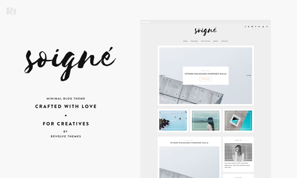 Soigne – A Minimal WordPress Blog Theme