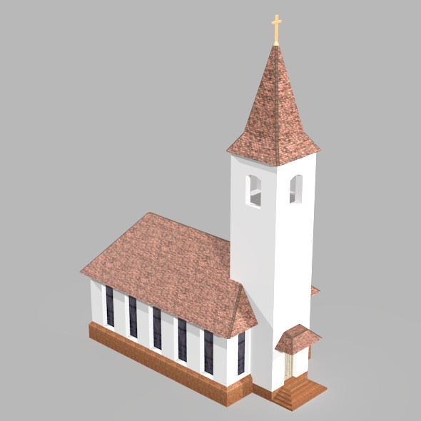Low Poly Church - 3DOcean Item for Sale