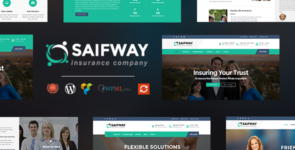 Saifway – Insurance Agency WordPress Theme