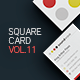 Square Business Card Template V.11 - GraphicRiver Item for Sale