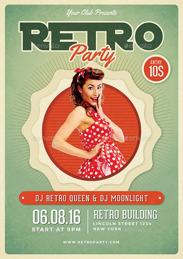 Retro Flyer by vynetta | GraphicRiver