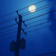 Utility Pole - Night - Moon - VideoHive Item for Sale