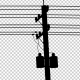 Utility Pole Silhouettes - On The Road - VideoHive Item for Sale