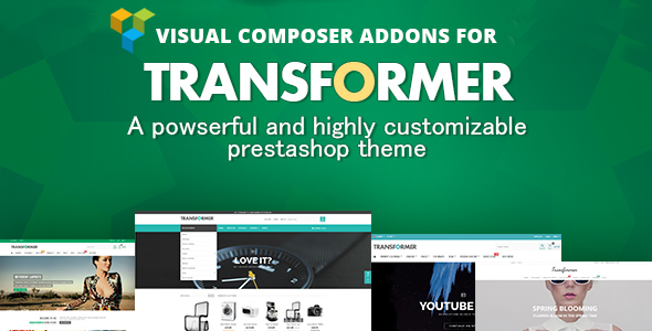 Prestashop Visual Composer Addons For Transformer Theme - CodeCanyon Item for Sale