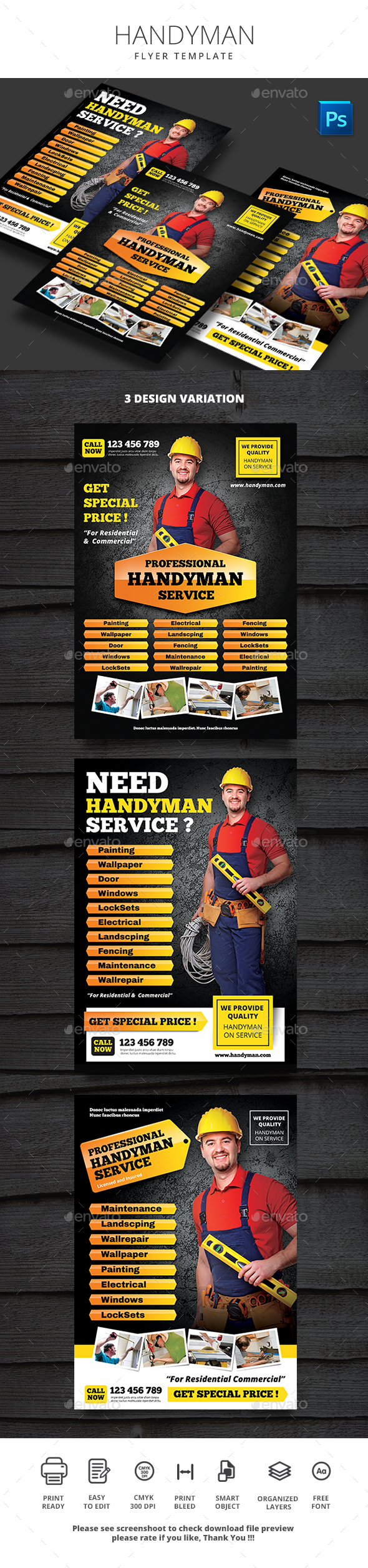 Handyman Flyer By Monggokerso Graphicriver