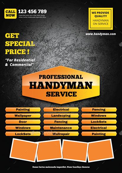 Great Free Handyman Flyer Template Images 14 Best Handyman Ideas